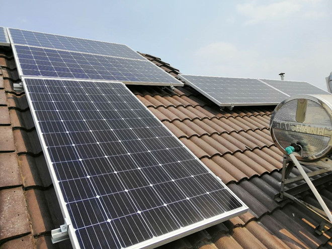 Households with solar power are supported up to 9 million VND