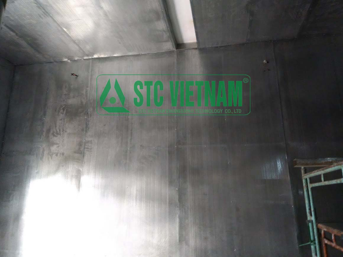 Cách âm tường phòng máy phát điện máy tole 0.6mm