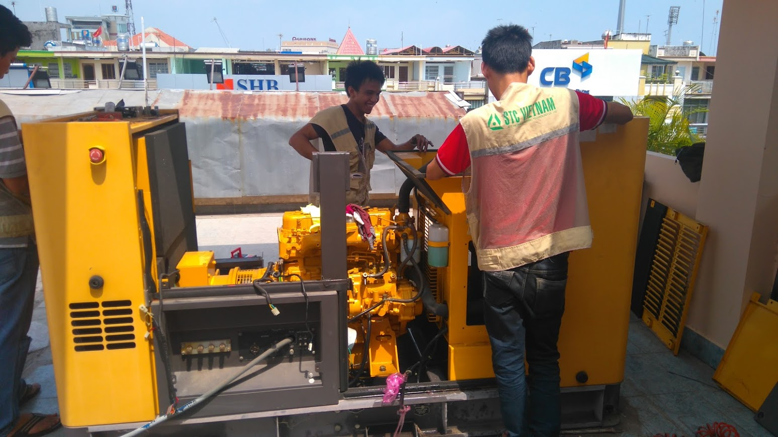 Repair of generator in Tien Giang