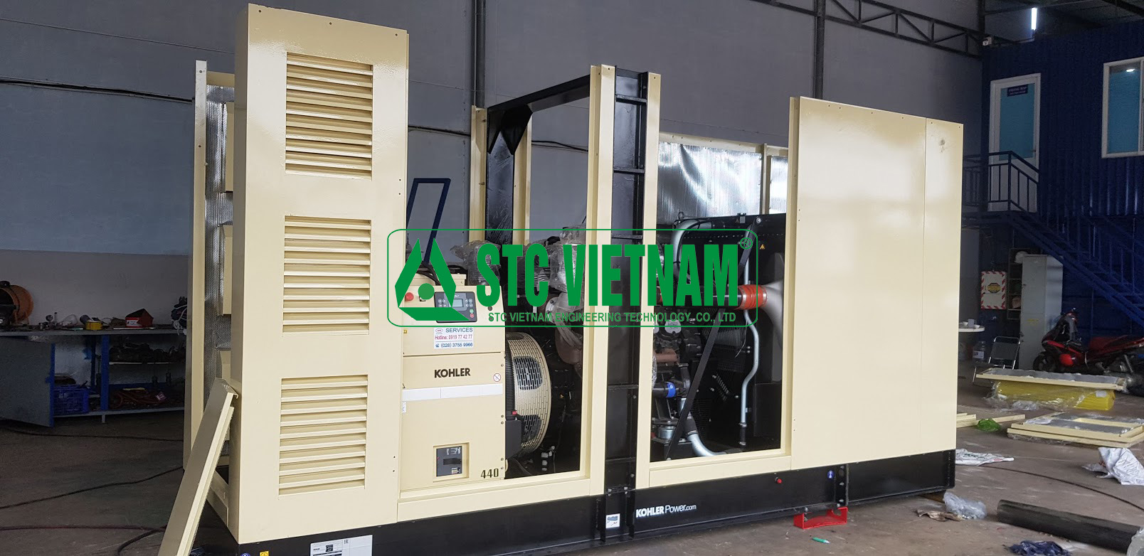 Install soundproof room generator, AHU, Chiller, Root Blower