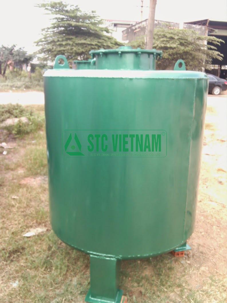 (Tiếng Việt) Bồn dầu máy phát điện 1000 lít (Tròn đứng)